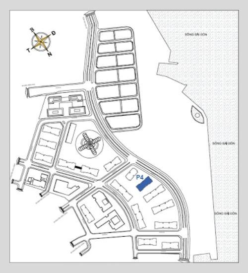 Sơ đồ vị trí tòa Park 4