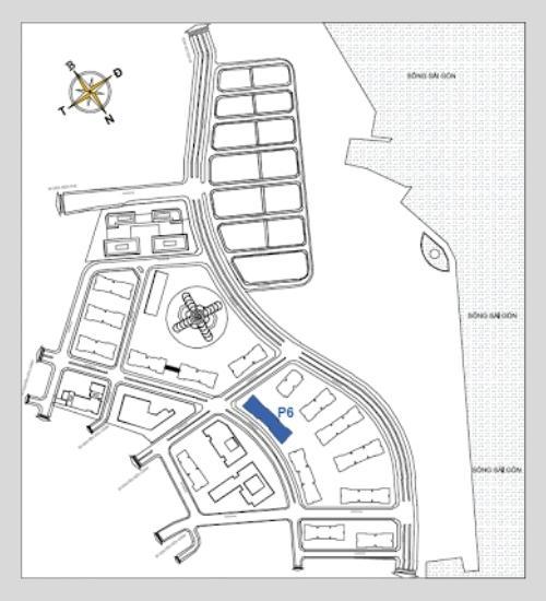 Sơ đồ vị trí tòa park 6
