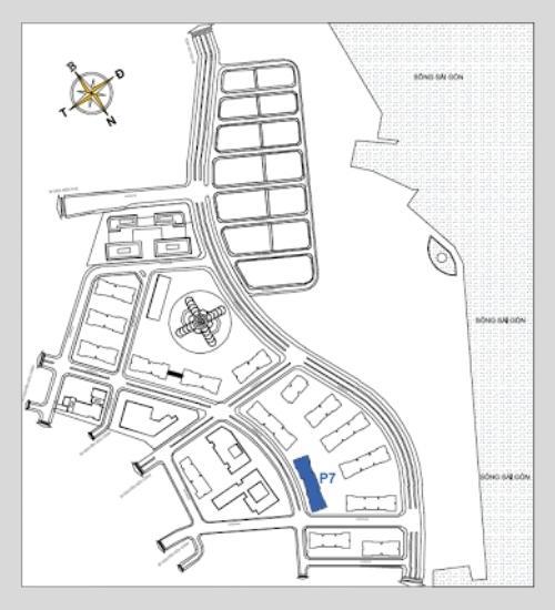 Sơ đồ vị trí tòa Park 7