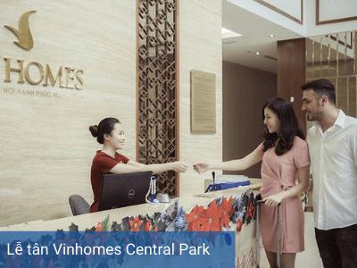 Lễ tân Vinhomes Central Park