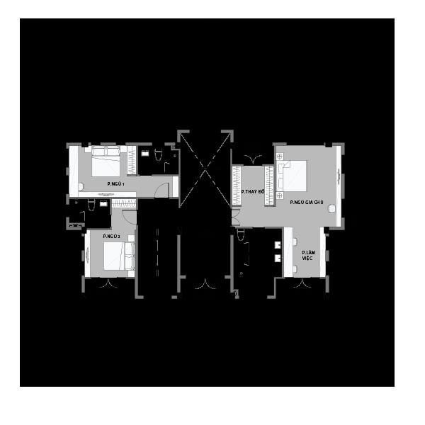 Mặt bằng tầng 1 biệt thự đơn lập Vinhomes Central Park