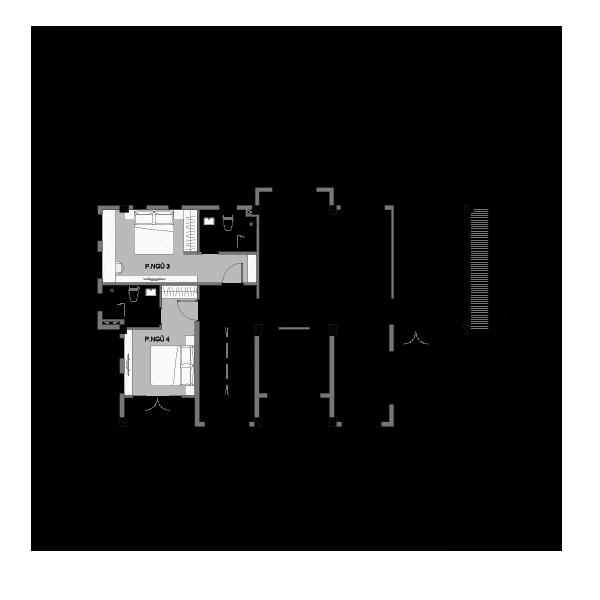 Mặt bằng tầng 2 biệt thự đơn lập Vinhomes Central Park