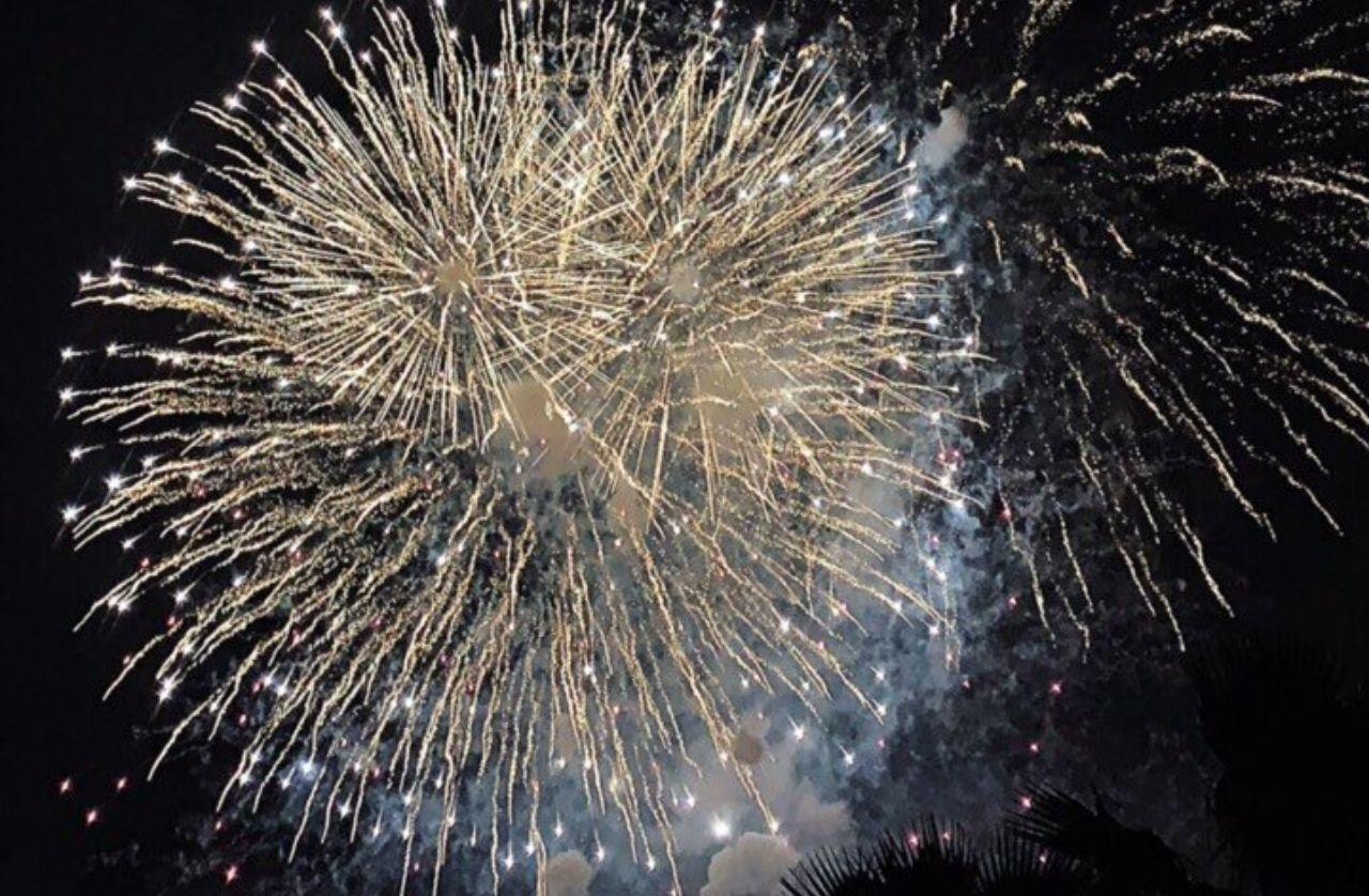 Những chùm pháo hoa đẹp mắt tại công viên Landmark 81