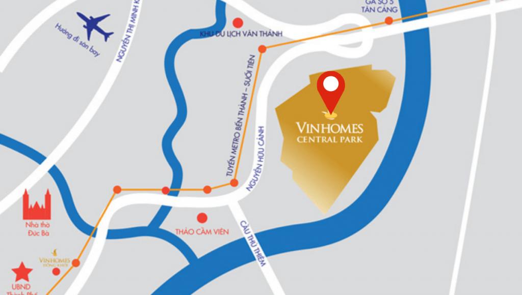 Vị tríí Vinhomes Central Park