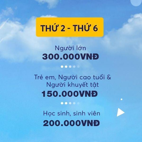 Bảng giá vé skyview trong tuần
