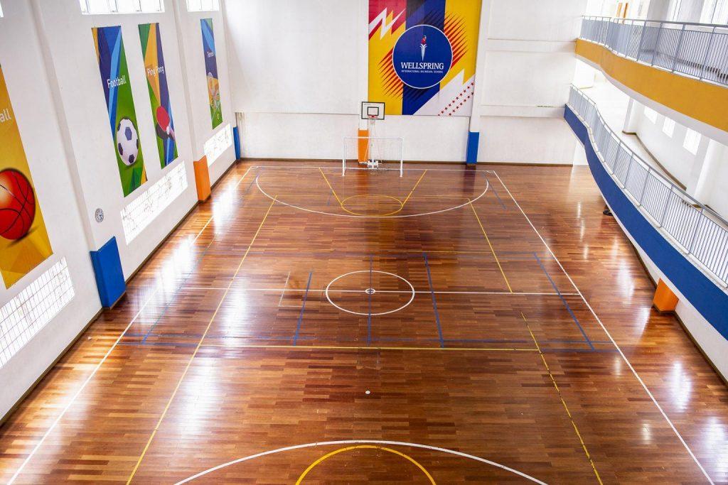 Khu vực bóng rổ trường Wellspring